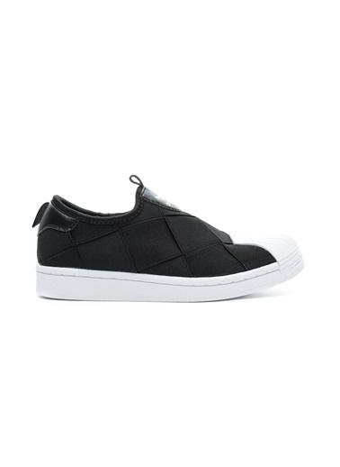 adidas Kadın Superstar Slip on Sneakers FV3187.Siyah Siyah
